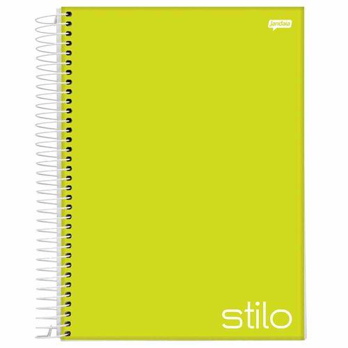 Caderno-Universitario-Stilo-Verde-Limao-10-Materias-Jandaia