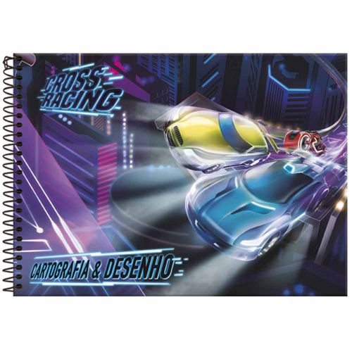 Caderno-de-Cartografia-Cross-Racing-96-Folhas-Foroni