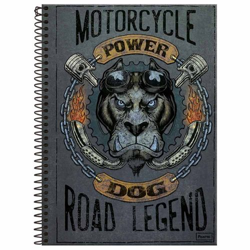 Caderno-Universitario-Power-Dog-10-Materias-Foroni