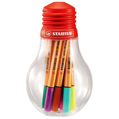 Caneta-Stabilo-Point-88-Mini-Colorful-Ideas-Lampada-12-Unidades