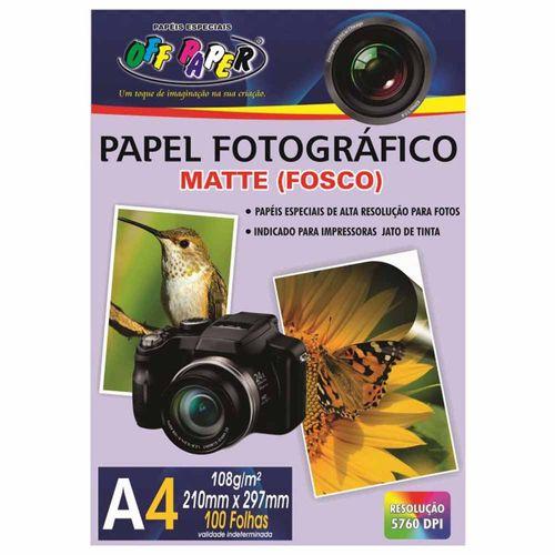 Papel-Fotografico-A4-Matte-Fosco-108g-Off-Paper-100-Folhas