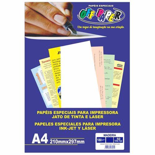 Papel-Madeira-A4-Branco-180g-Off-Paper-50-Folhas