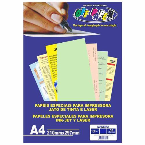Papel-Madeira-A4-Verde-180g-Off-Paper-50-Folhas