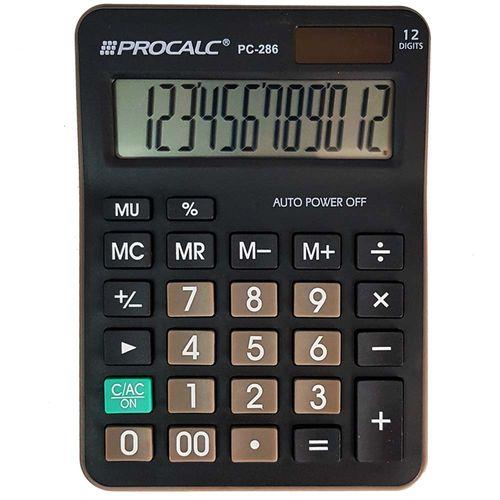 Calculadora-de-Mesa-Procalc-PC-286-Preta-12-Digitos