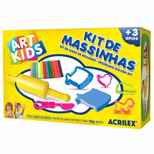 Kit-de-Massinha-de-Modelar-180g-Art-Kids-Acrilex