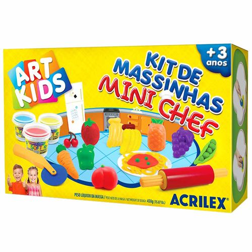 Kit-de-Massinha-de-Modelar-mini-Chef-450g-Art-Kids-Acrilex