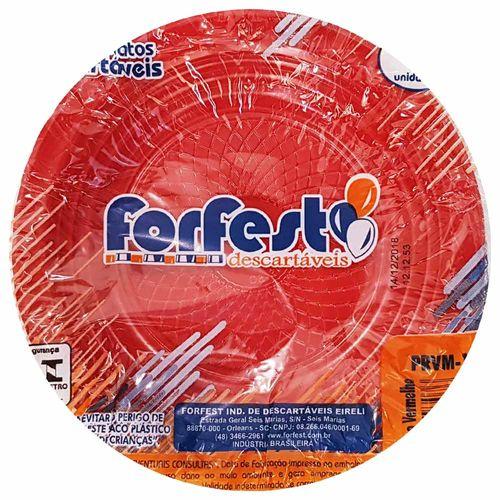 Prato-Descartavel-15cm-Vermelho-Forfest-10-Unidades