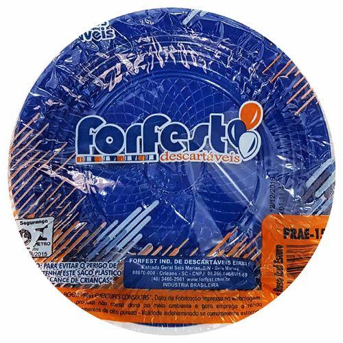 Prato-Descartavel-15cm-Azul-Escuro-Forfest-10-Unidades