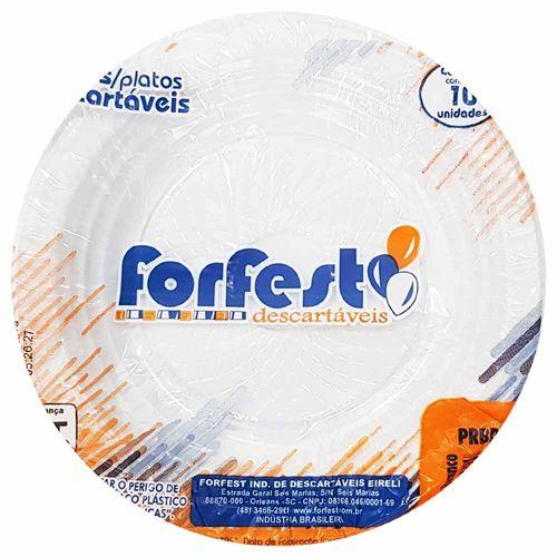 Prato-Descartavel-15cm-Branco-Forfest-10-Unidades