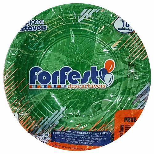 Prato-Descartavel-15cm-Verde-Escuro-Forfest-10-Unidades