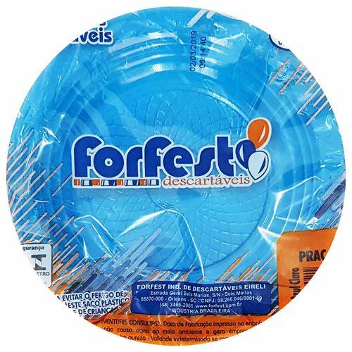Prato-Descartavel-15cm-Azul-Claro-Forfest-10-Unidades
