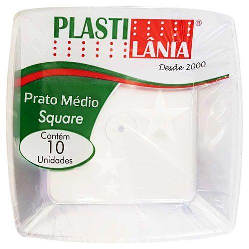 Prato-Descartavel-18cm-Square-Cristal-Plastilania-10-Unidades