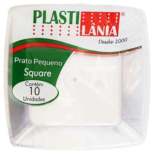 Prato-Descartavel-15cm-Square-Cristal-Plastilania-10-Unidades