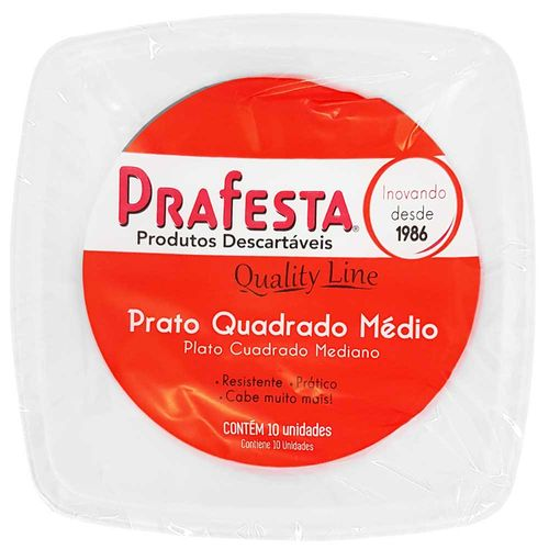 Prato-Descartavel-15cm-Quality-Line-Prafesta-10-Unidades