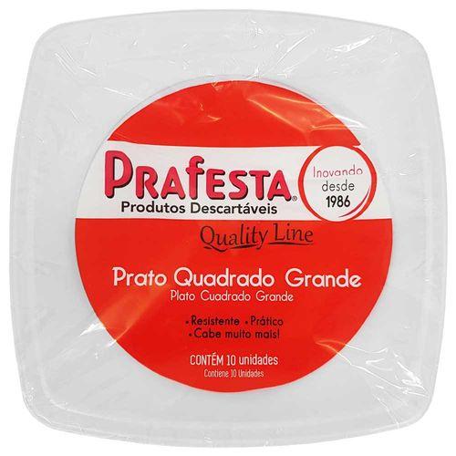 Prato-Descartavel-21cm-Quality-Line-Prafesta-10-Unidades