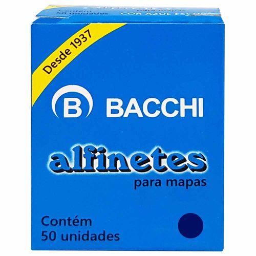 Alfinete-para-Mapa-Azul-Escuro-Bacchi-50-Unidades