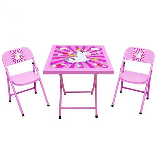 Conjunto-de-Mesa-Infantil-Unicornio-com-2-Cadeiras-Acomix