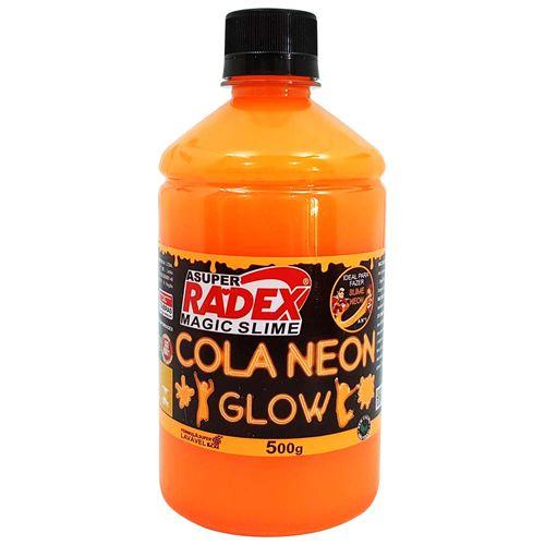 Cola-para-Slime-Neon-500g-Laranja-Radex