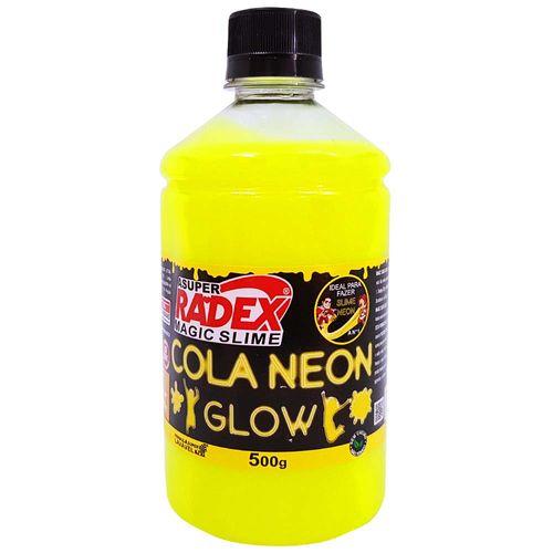 Cola-para-Slime-Neon-500g-Amarela-Radex