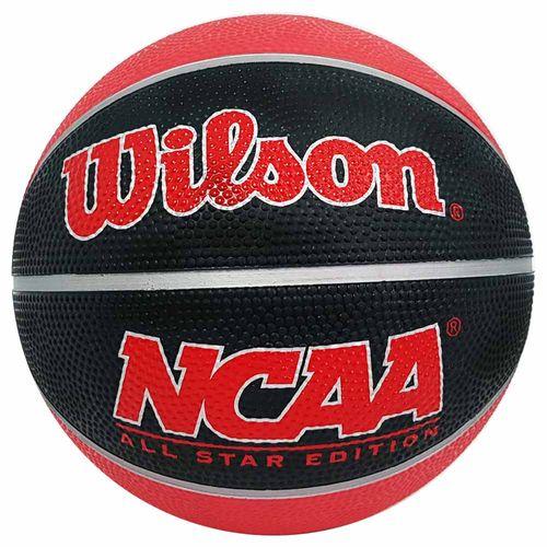 Bola-de-Basquete-Wilson-NCAA-Mini-Vermelha-e-Preta