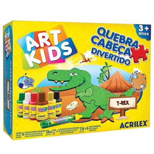 Quebra-Cabeca-Divertido-T-Rex-Art-Kids-Acrilex