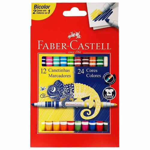 Canetinha-Hidrografica-24-Cores-Bicolor-Faber-Castell