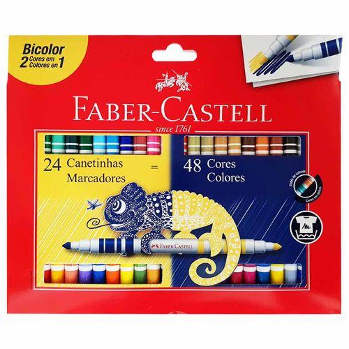 Canetinha-Hidrografica-48-Cores-Bicolor-Faber-Castell