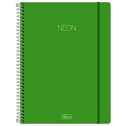Caderno-Universitario-Neon-Verde-10-Materias-Tilibra