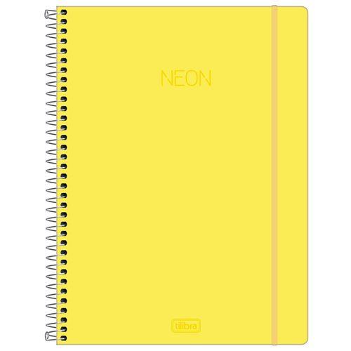 Caderno-Universitario-Neon-Amarelo-1-Materia-Tilibra