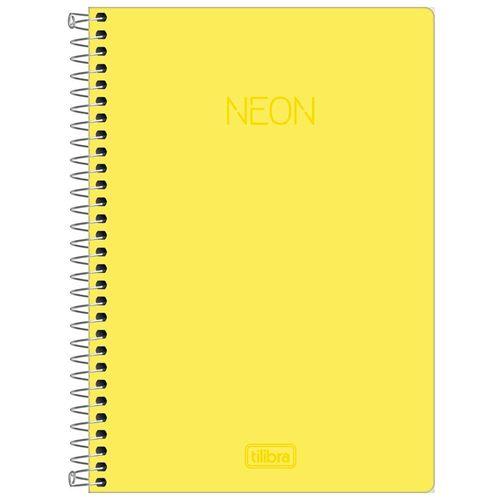 Caderno-14-Sem-Pauta-Neon-Amarelo-80-Folhas-Tilibra