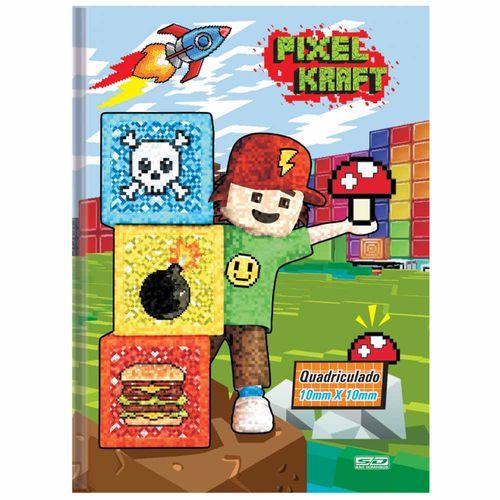Caderno-Quadriculado-14-Pixel-Kraft-48-Folhas-Sao-Domingos