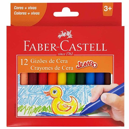 Giz-de-Cera-12-Cores-Jumbo-Faber-Castell