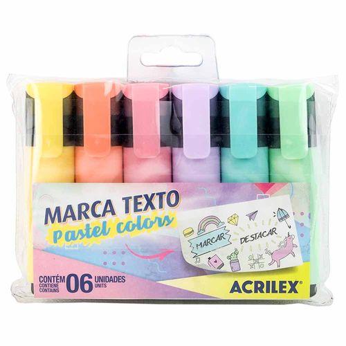 Caneta-Marca-Texto-Acrilex-Pastel-6-Cores