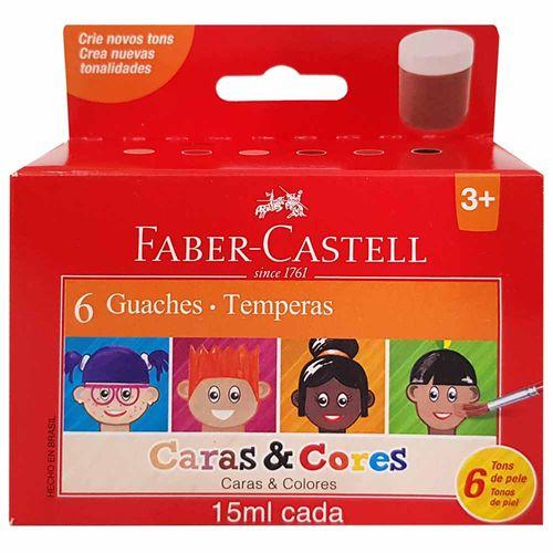Tempera-Guache-6-Cores-Caras-e-Cores-Faber-Castell