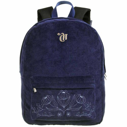 Mochila-Escolar-Capricho-Veludo-Azul-Dermiwil-11861