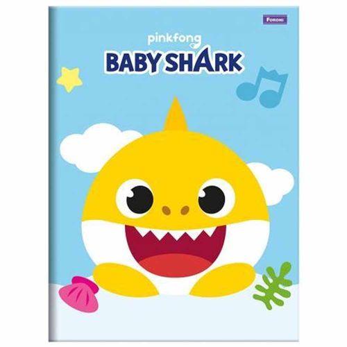 Caderno-Brochura-14-Baby-Shark-96-Folhas-Foroni-