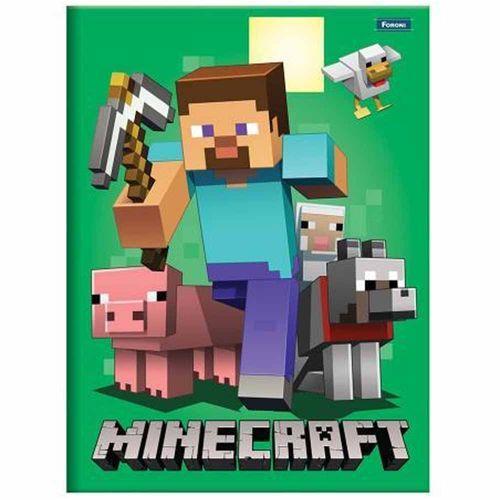 Caderno-Brochura-14-Minecraft-96-Folhas-Foroni