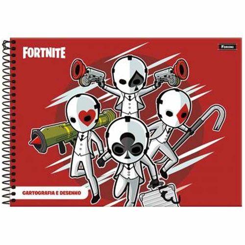 Caderno-de-Cartografia-Fortnite-96-Folhas-Foroni