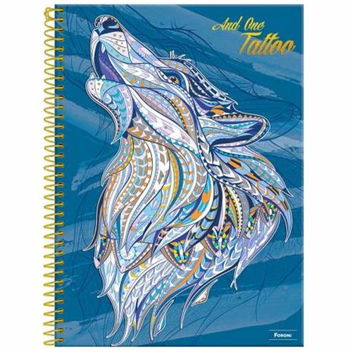 Caderno-Universitario-And-One-Tattoo-10-Materias-Foroni