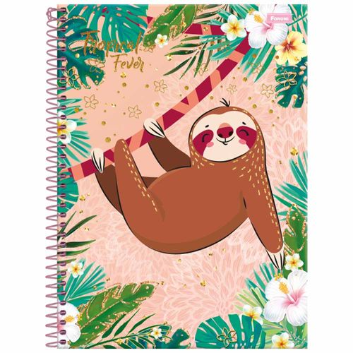Caderno-Universitario-Tropical-Fever-20-Materias-Foroni