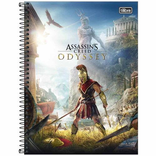 Caderno-Universitario-Assassin-s-Creed-10-Materias-Tilibra