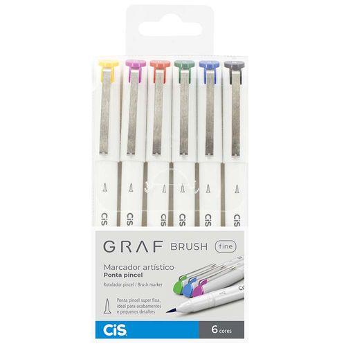 Marcador-Artistico-Graf-Brush-Fine-Cis-6-Cores