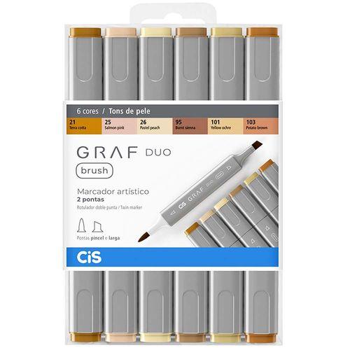 Marcador-Artistico-Graf-Duo-Brush-Tons-de-Pele-Cis-6-Cores