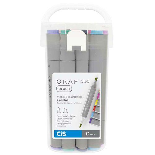Marcador-Artistico-Graf-Duo-Brush-Cis-12-Cores