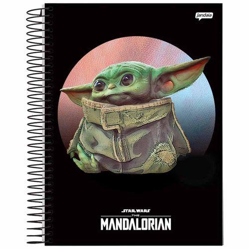 Caderno-Universitario-Baby-Yoda-10-Materias-Jandaia