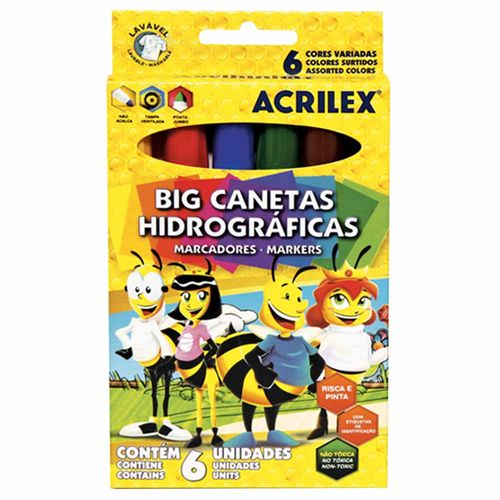 Canetinha-Hidrografica-Big-Acrilex-6-Cores