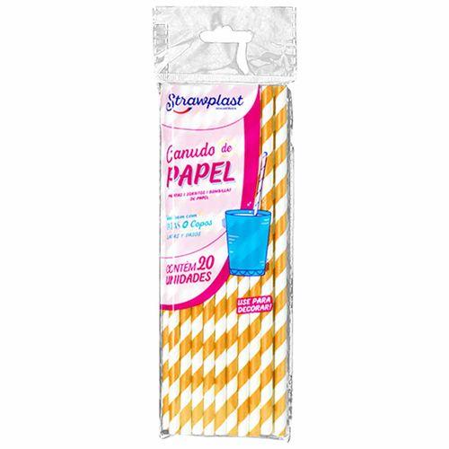 Canudo-de-Papel-Dourado-Strawplast-100-Unidades