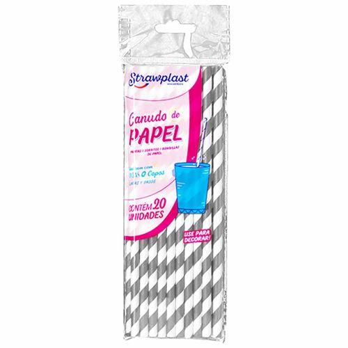 Canudo-de-Papel-Prata-Strawplast-100-Unidades