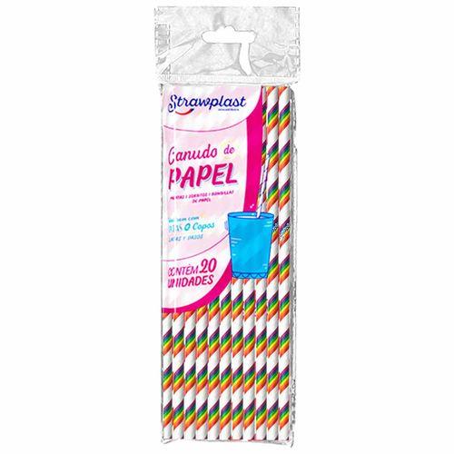 Canudo-de-Papel-Arco-Iris-Strawplast-100-Unidades