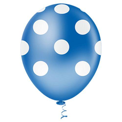 Bexiga-Fantasia-Bolinha-10-Azul-Royal-com-Branco-Pic-Pic-25-Unidades